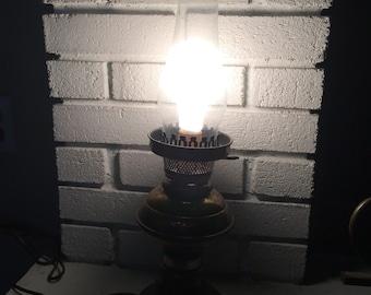 Brass chimney electric lamp