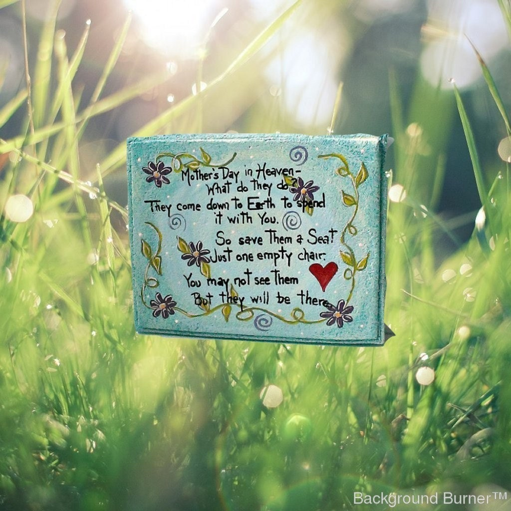 Handmade stepping stone gift for mom hand painted stone - Hand painted garden stones ...