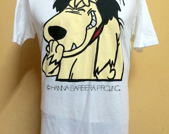 Vintage 80s Hanna Barbera Pro Inc. MUTTLEY Wacky Race Tshirt