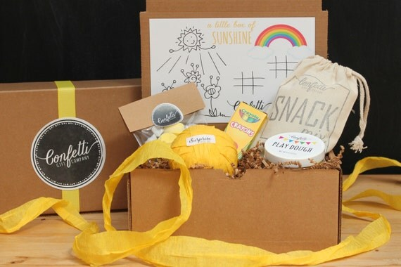 Box of Sunshine - Kids Gift Box // Kids Activity Box // Get Well Gift // Thinking of You Gift // Send a Kids Gift // Childrens Gift