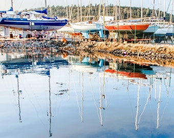 Yachts in the mirror