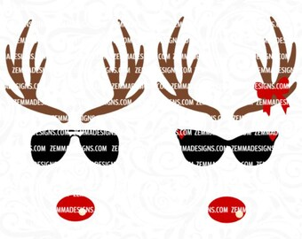 Reindeer face svg - Reindeer svg - Christmas svg - svg christmas files - Christmas shirt svg - reindeer svg files - Christmas clipart