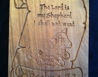Psalm 23 - The Lord Is My Shepherd Plaque