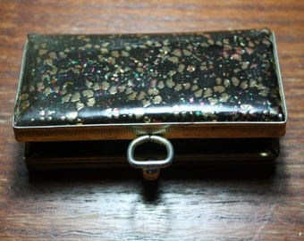 Vintage Floral Coin Purse with Plastic Coin Slots