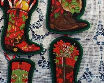 Christmas Cowboy Boots, Christmas Ornaments
