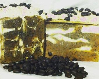 Coffee Bean Soap Cream soap Coffee Soap- Moisturizing- Nourishing- Cold processed soap Coffee scented
