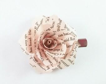 Book Page Flowers - Flower Hair Clip - Harry Potter Hair - Hair Accessories - Wedding Hair Clip - Flower Girl Hair -  Bridesmaid Hair Clip