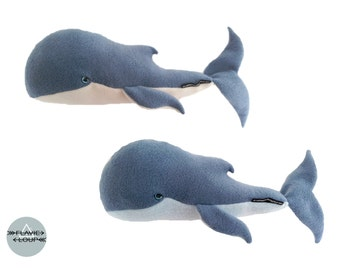 Plush model whales: sperm whale