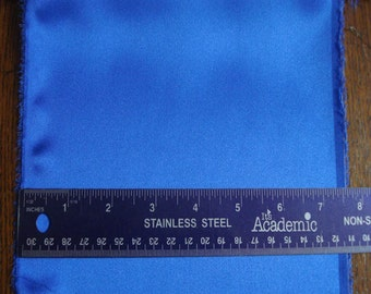 100% Silk Charmeuse - Plain - Royal Blue
