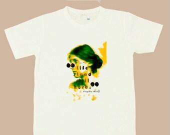 Virginia Woolf Classical Female WRITER T shirts S,M,L,XL
