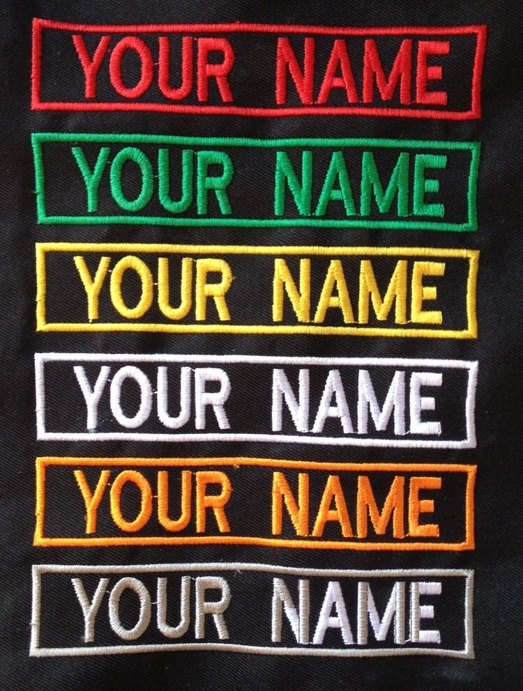 6 inches personalized custom embroidered velcro by lanstangshop. Black Bedroom Furniture Sets. Home Design Ideas