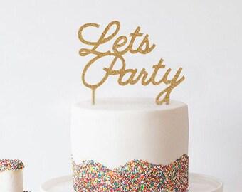 Party-Cake Topper, Hochzeit Dekoration, Silvester, Neujahr Silvester Party Kuchen, Engagement, 21. Geburtstag GoldPartei Zeichen, wiederverwendbare Geburtstag
