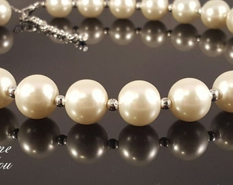Big Glass Pearl Necklace