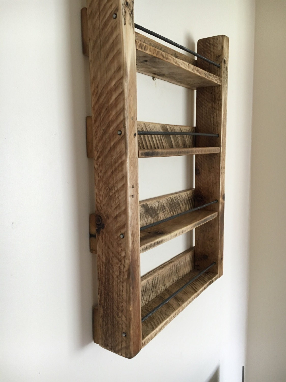Spice Rack Wood Spice Rack Handmade 4 Shelf By