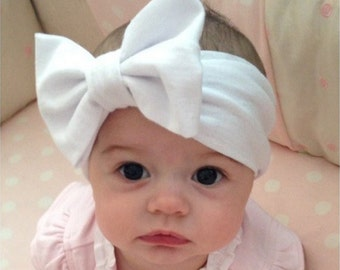 Baby big bow ribbon,baby hair wrap,bowknot baby headbands,cool headbands,Hair Bows.(17)