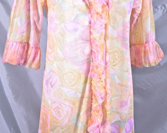 Free Shipping: Pastel Baby Doll Nylon Vanity Fair Robe