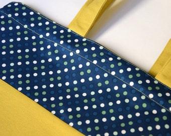 Tote Bag / Market Bag Mustard & Dots