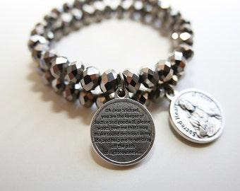 Saint Michael and Sacred Heart of Jesus double bracelet