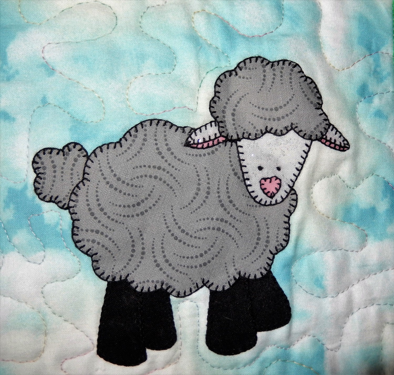 Lamb Or Sheep Pdf Applique Pattern Farm Animal Applique Quilt