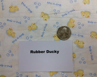 Rubber Ducky Fabric - 1 and 1/2 Yards