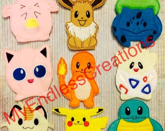 Pokemon Finger Puppets, PokemonGO, PokemonGo Finger Puppets, Pokemon Go