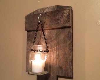 Rustic latern candle holder