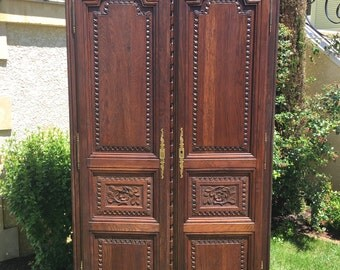 Antique French Normandy Bedroom Armoire In Oak Large Kitchen Cabinet Great  For Storage Sku#6792