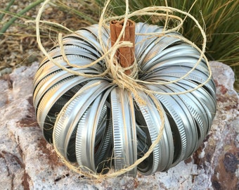 MASON JAR ring pumpkin apple CENTERPIECE