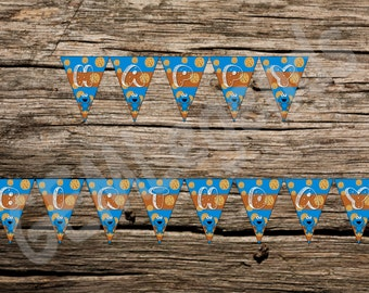 Cookie Monster Birthday Banner, Cookie Monster Banner, Cookie Monster Birthday Party, Cookie Monster Party, INSTANT DOWNLOAD