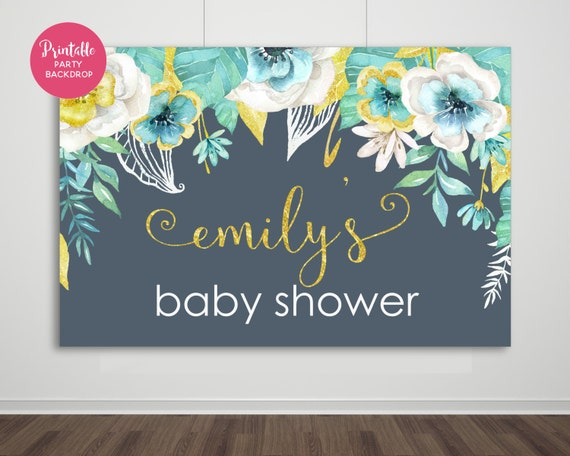 baby shower backdrop baby shower baby shower decor printable