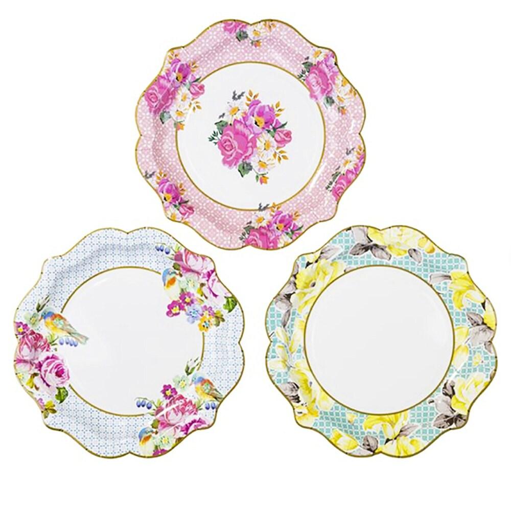 tea party paper plates Tea party paper dessert plates showcase a floral polka dot teapot design visit my paper shop for best selection & bulk wholesale savings.