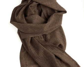 Brown  scarf, unisex scarf, men's scarf, women's scarf , light pashmina scarf, brown cashmere scarf, pashmina scarf, 100% natural