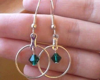 Pink or Green Swarovski Elements Earrings