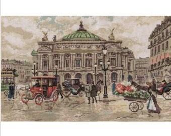 Cross Stitch Kit by Panna - Paris. Grand Opera