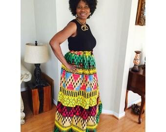 Ankara African Skirt, Maxi Skirt