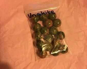 Round Unakite Stone Beads