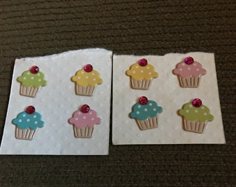 Darling 8 scrapbooking, card making cupcakes with a rhinestone cherry on top