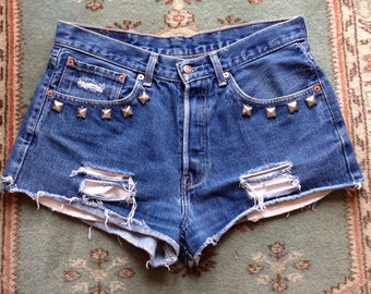 Reworked Levi's Denim Cutoff Shorts