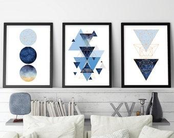 Trending Now Art, Set of 3 Prints, 3 Print Set, Geometric Print, Geometric Poster, Scandinavian Modern, Scandinavian Print, Scandinavian Art