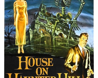 The HOUSE On HAUNTED HILL Movie Poster 1958