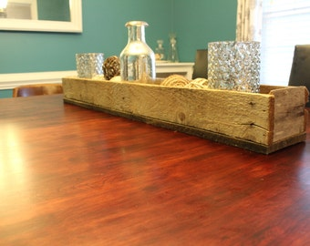 Reclaimed wood decorative box