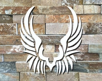 Tribal wings, edgy set of wings, wing decals, tribal decor, angel wings