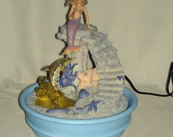 Mermaid And Dolphin Waterfall. New In Box