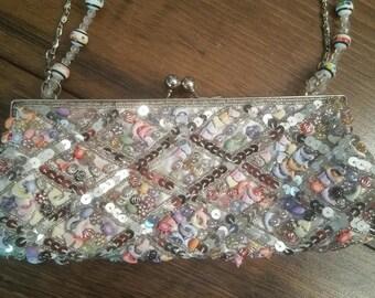Vintage Beaded Handbag - Beaded Handbag - Vintage Beaded Purse - Beaded Purse - Beaded Bag - Vintage Beaded Bag - Beaded Evening Bag