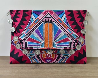 Tribal Clutch/iPad pouch - Pink