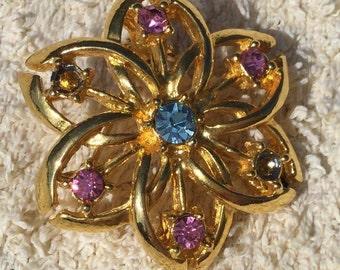 Beautiful colourful brooch