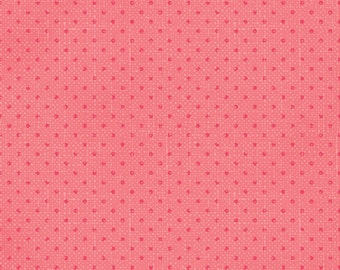 35% off - 2 yards Clothworks Lullaby by Iron Orchid Designs Lullaby - Pink Vintage Dot CLTY1803-40