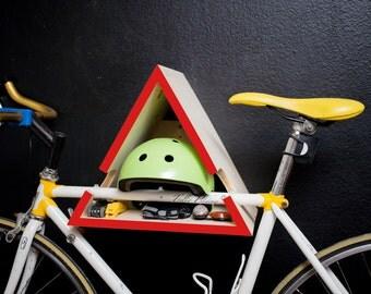 Red - Triangle Bike Rack