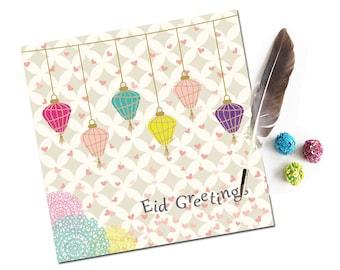 Eid Mubarak Card, Eid Greeting Card, Islamic Cards, Muslim Cards, Ramadan Kareem Cards Eid al Fitr, Eid al Adha