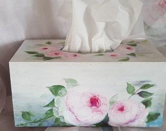 HANDMADE Flower Tissue Box Cover Napkin Box Holder
